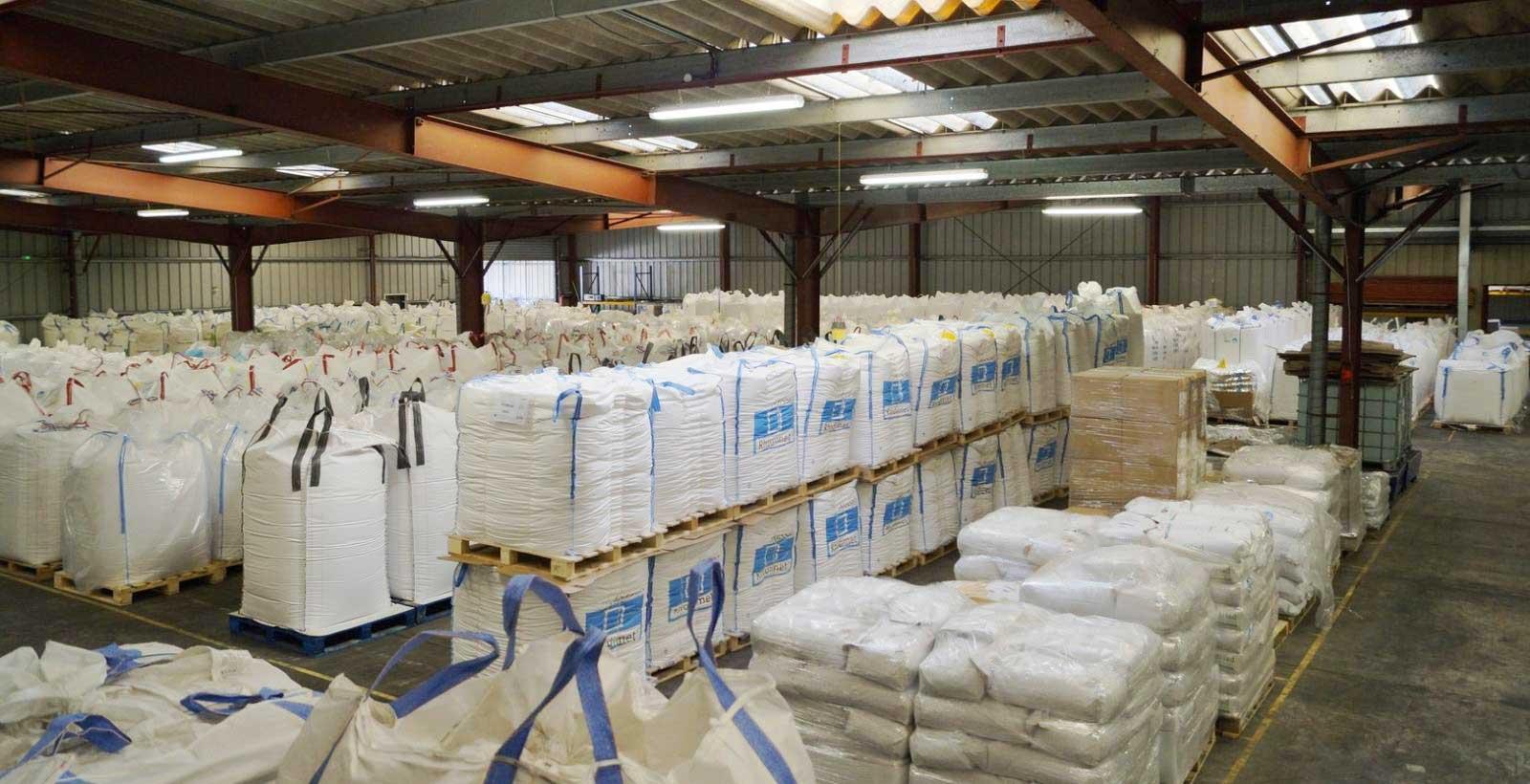 Stockage et livraison de matières premières SOTRAB à Montpellier